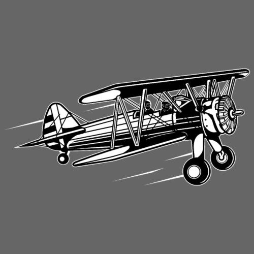 Flieger / Airplane 01_schwarz weiß - Männer Premium T-Shirt