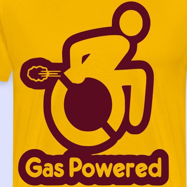 Gas aangedreven rolstoel gebruiker 001