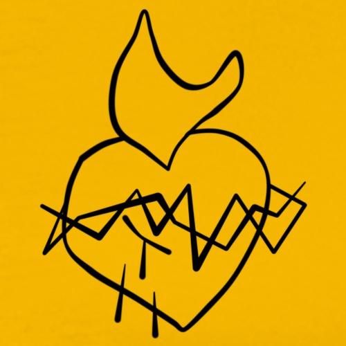 Sagrado Corazón de Jesús - Camiseta premium hombre