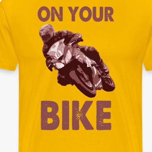 On Your Bike (red) Long Sleeve Baseball T-Shirt - Men's Premium T-Shirt
