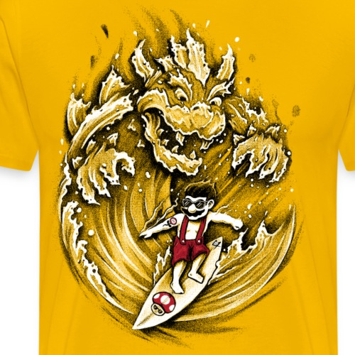 Surfing Mario - Men's Premium T-Shirt