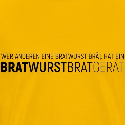 Bratwurstbratgerät - Männer Premium T-Shirt
