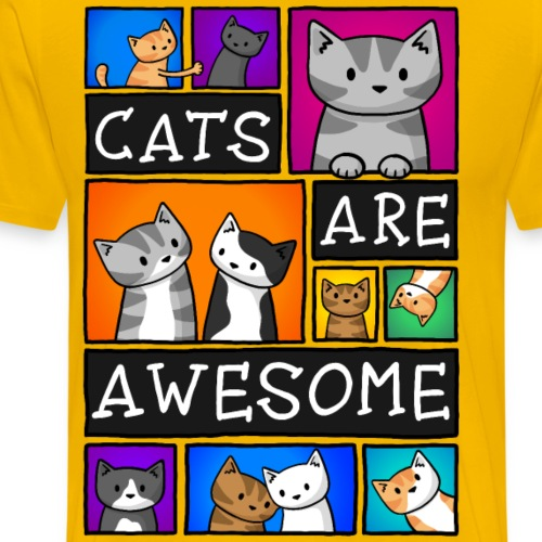 Cats Are Awesome - Men's Premium T-Shirt