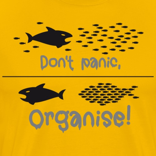 Don't Panic organise Angst Polizei Staat occupy - Men's Premium T-Shirt