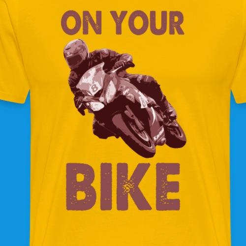 On Your Bike (red) - Men's Premium T-Shirt
