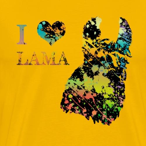 i love lama - T-shirt Premium Homme
