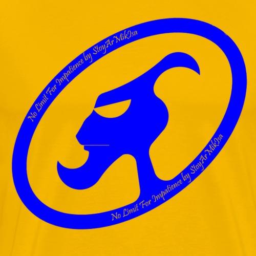 THEZ-blue-text-haut-Maj-i - T-shirt Premium Homme