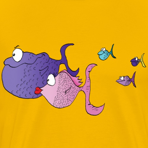 fish family - T-shirt Premium Homme