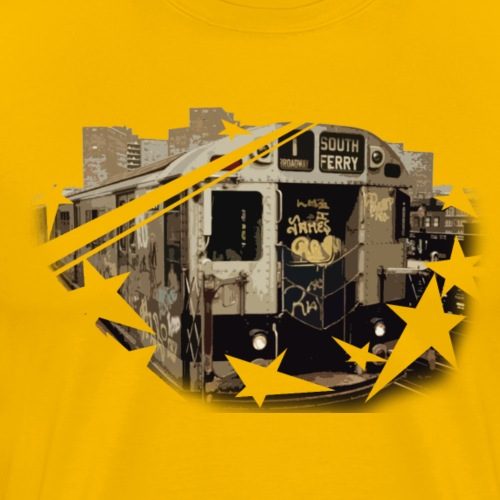 new york subway 1973 104 png - Männer Premium T-Shirt