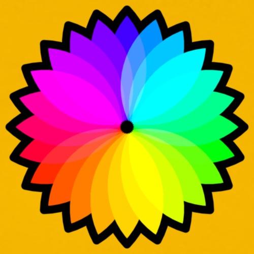 Blume farbig - Männer Premium T-Shirt