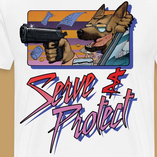 Gun Dog - Serve and protect - napis