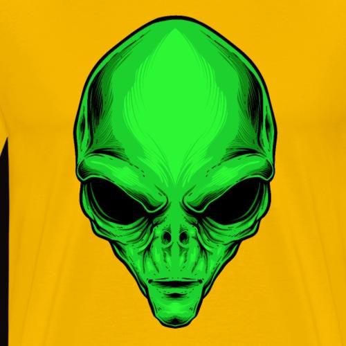 alien reptiliano - Camiseta premium hombre