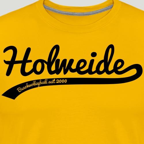 Holweide swoosh schwatz - Männer Premium T-Shirt