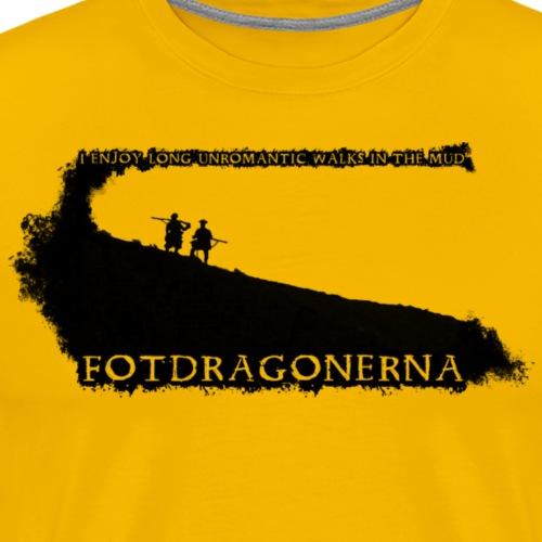 fotdragon grafik svart png - Men's Premium T-Shirt