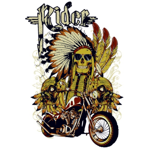 Skull Rider - Camiseta premium hombre