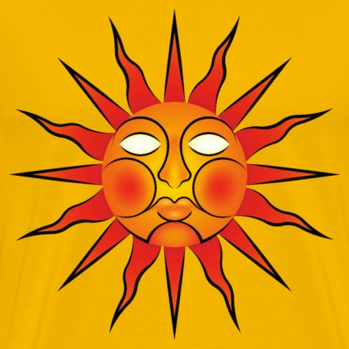 Folk Horror / Wicker Man Sun Sigil - Men's Premium T-Shirt