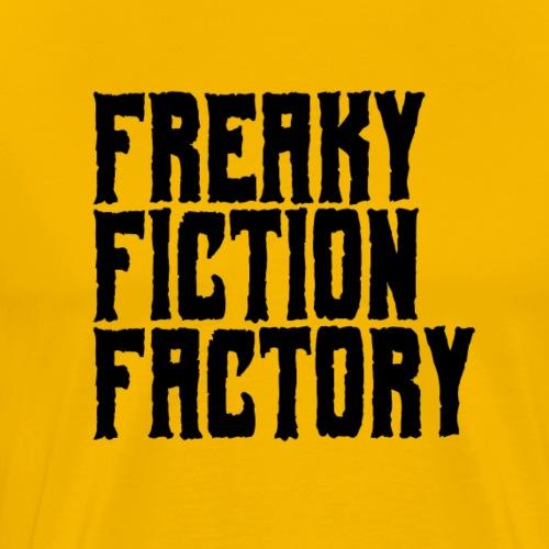 Freaky Fiction Factory Offical Logo Schwarz - Männer Premium T-Shirt