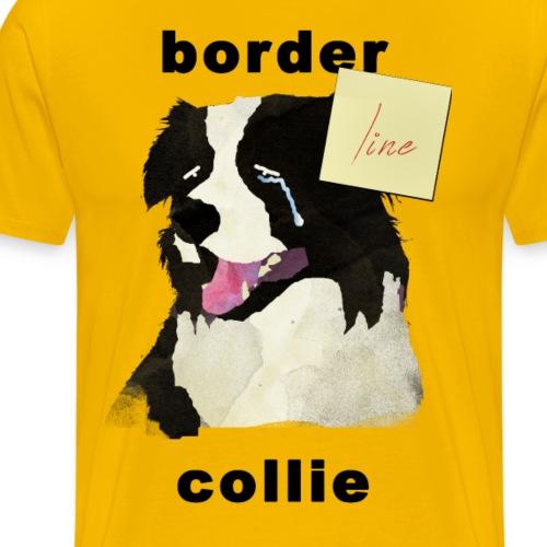 Bordeline Collie - Premium-T-shirt herr
