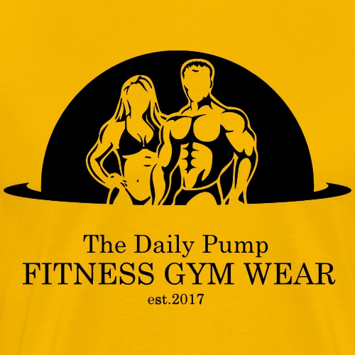The Daily Pump Posing Fitness Gym Wear - Männer Premium T-Shirt