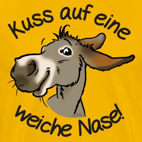 Esel Kuss (Text Schwarz) - T-shirt Premium Homme