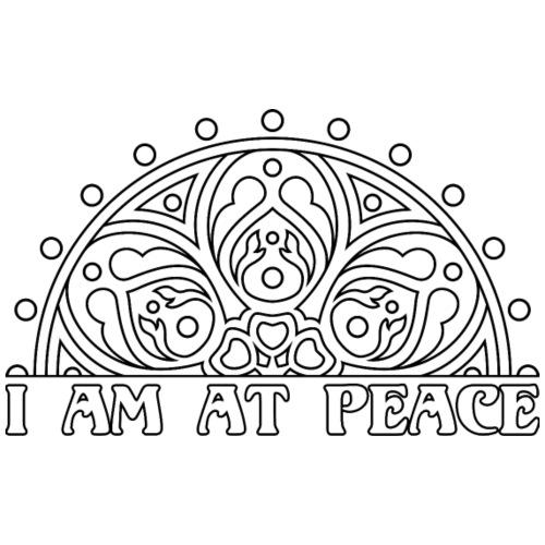 MANDALA I AM AT PEACE 1 - Männer Premium T-Shirt