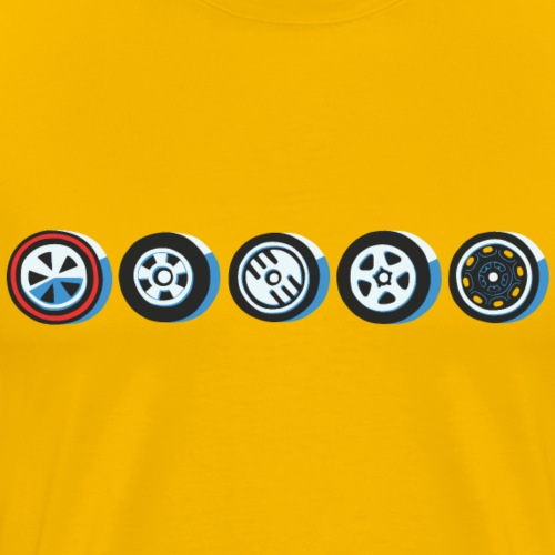 50 Wheels - Mannen Premium T-shirt