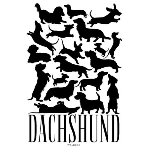 Dachshund Black - Miesten premium t-paita