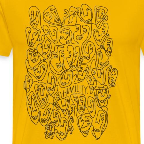 Visages d'humilité - Line Art - T-shirt Premium Homme