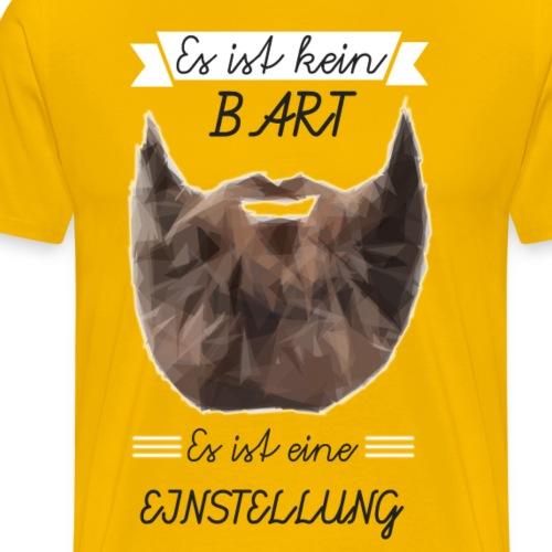 Bart Einstellung - Männer Premium T-Shirt