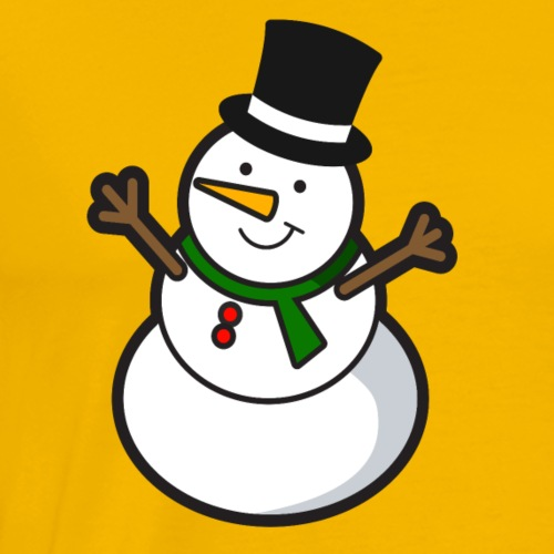 Happy snowman - Men's Premium T-Shirt