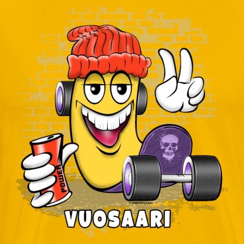 VUOSAARI SKATER - Skateboard Helsinki - Miesten premium t-paita