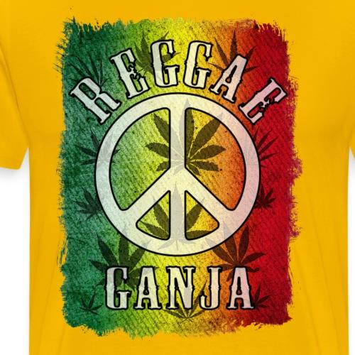 reggae peace ganja - T-shirt Premium Homme