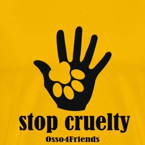 STOP CRUELTY - Maglietta Premium da uomo