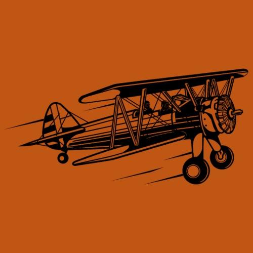 Flieger / Airplane 01_schwarz - Männer Premium T-Shirt
