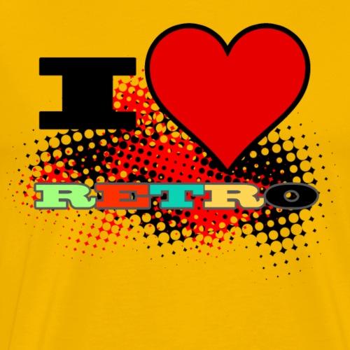 I love Retro - Mannen Premium T-shirt