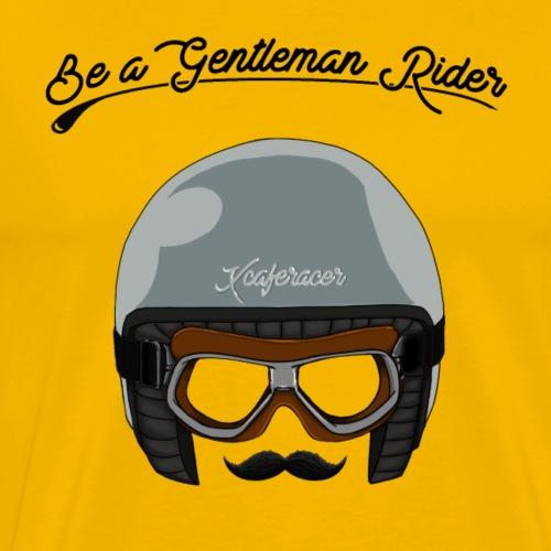 logo gentleman black - T-shirt Premium Homme