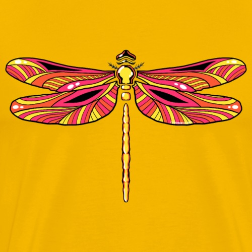 Dragonfly, insect textiles, Gifts ideas for you! - Miesten premium t-paita