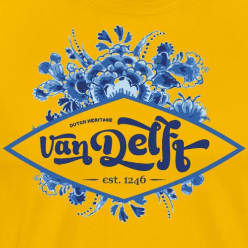 Delfts blauw boeket VanDelft - Mannen Premium T-shirt
