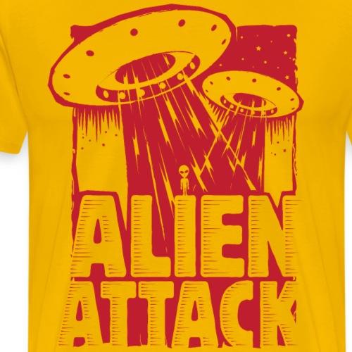 UFO Alien Attack - T-shirt Premium Homme