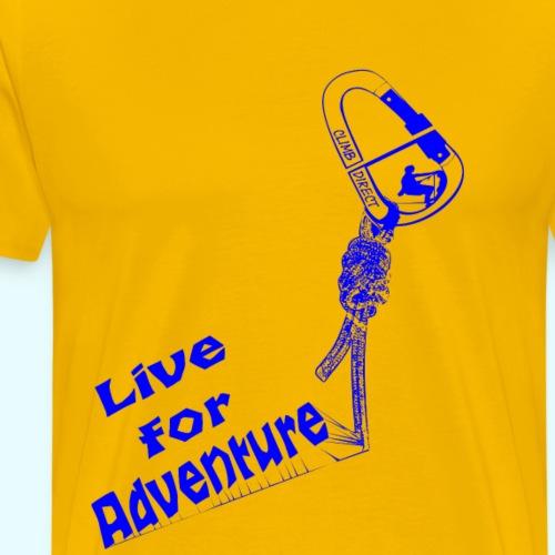 Live for adventure blue - Men's Premium T-Shirt