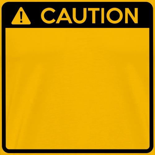 Caution Sign (1 colour) - Men's Premium T-Shirt