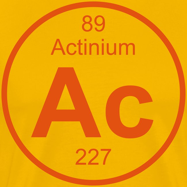 Actinium (Ac) (element 89) | Men's Premium T-Shirt
