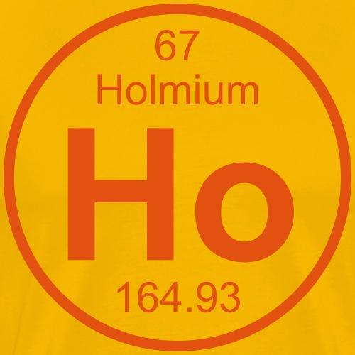 Holmium (Ho) (element 67) - Men's Premium T-Shirt