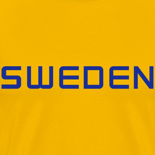 SWEDEN straight - Maglietta Premium da uomo