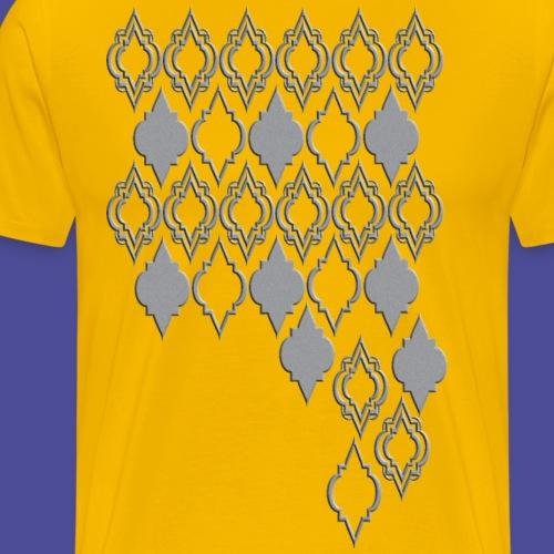 Orientmuster grau - Männer Premium T-Shirt