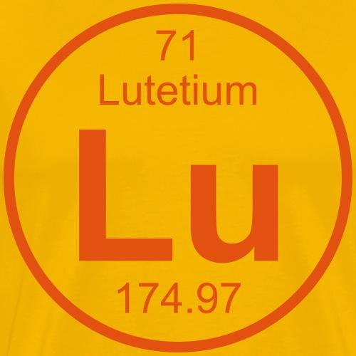 lu (lutetium) - Element 71 - Full (round) - Men's Premium T-Shirt