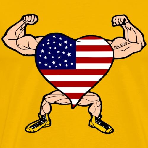 USA heart flag - Men's Premium T-Shirt