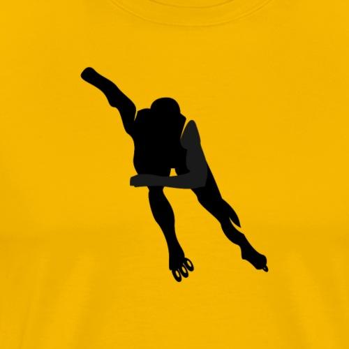 Speedskater Schwarz - Männer Premium T-Shirt