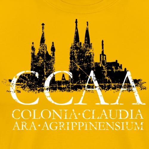 CCAA Skyline Köln Dom Groß St. Martin Vintage - Männer Premium T-Shirt