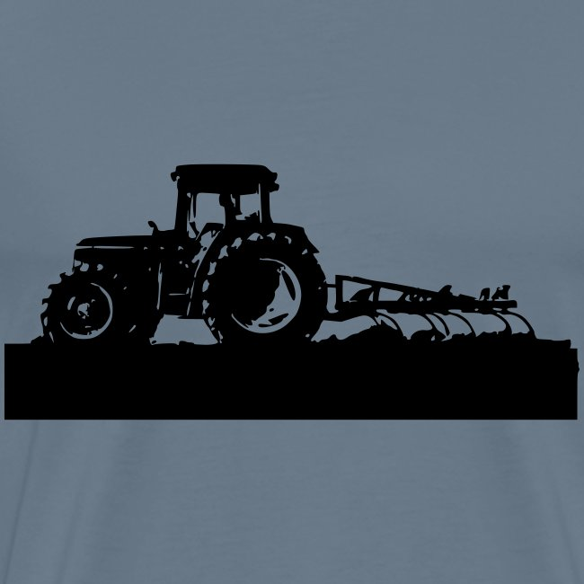 Tractor with cultivator